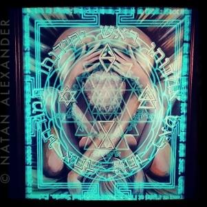 """""""Ararita"""", Acrylic and Illuminated Glass, 2013, Natan Alexandar"""