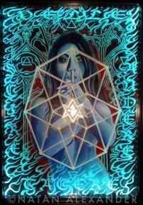 Secrets of the Sphinx, acrylic and illuminated glass, 2012, Natan Alexandar