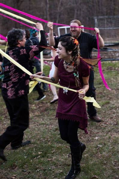 Dancing the Maypole, A Celebration of Beltane May 2016