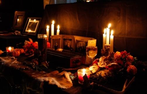 ancestor altar, Samhain 2017